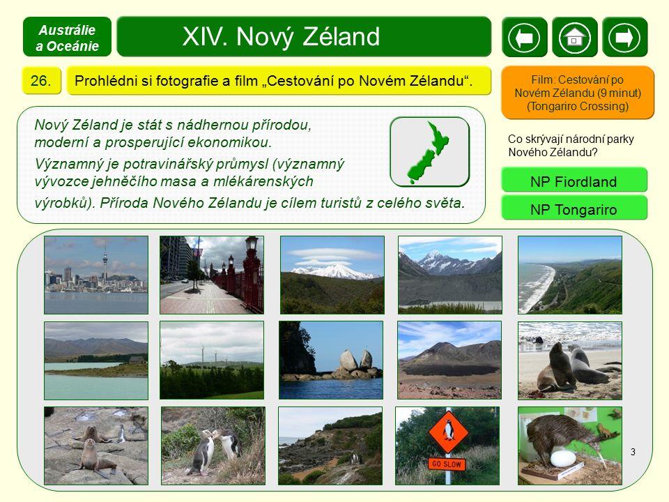 """Austrálie a Oceánie XIV. Nový Zéland. 26. Prohlédni si fotografie a film """"Cestování po Novém Zélandu ."""