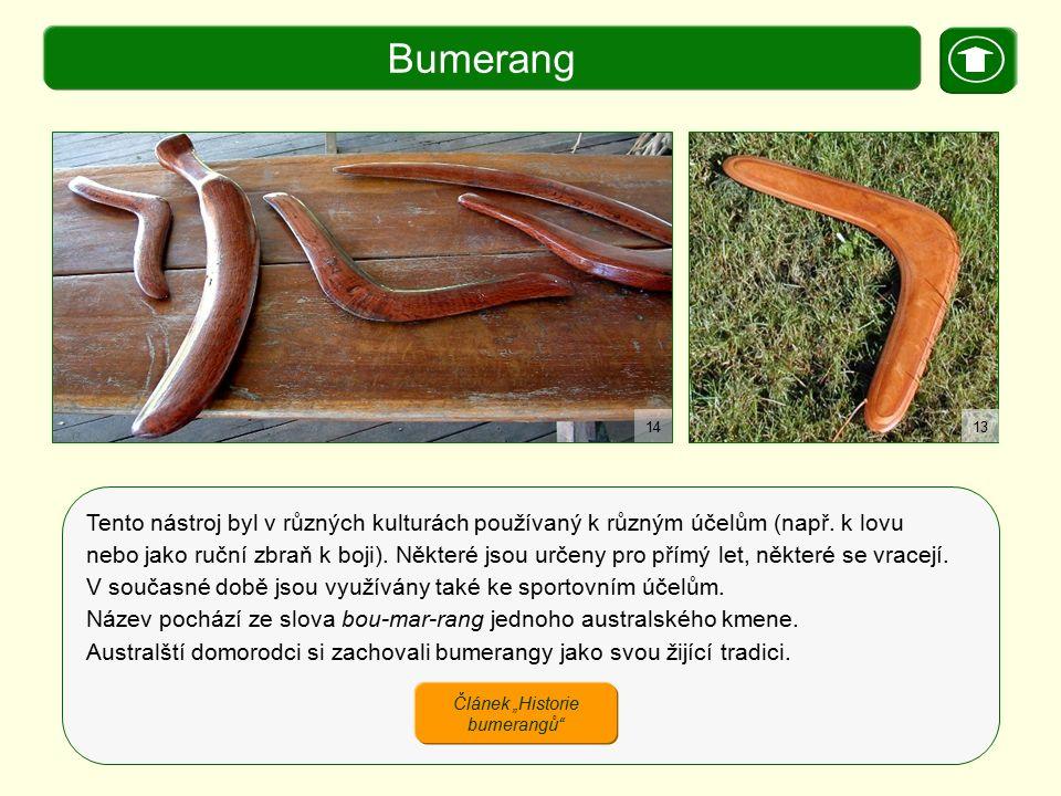 """Článek """"Historie bumerangů"""