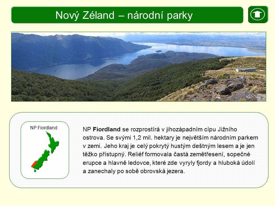 Nový Zéland – národní parky