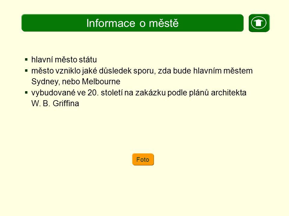 Informace o městě hlavní město státu