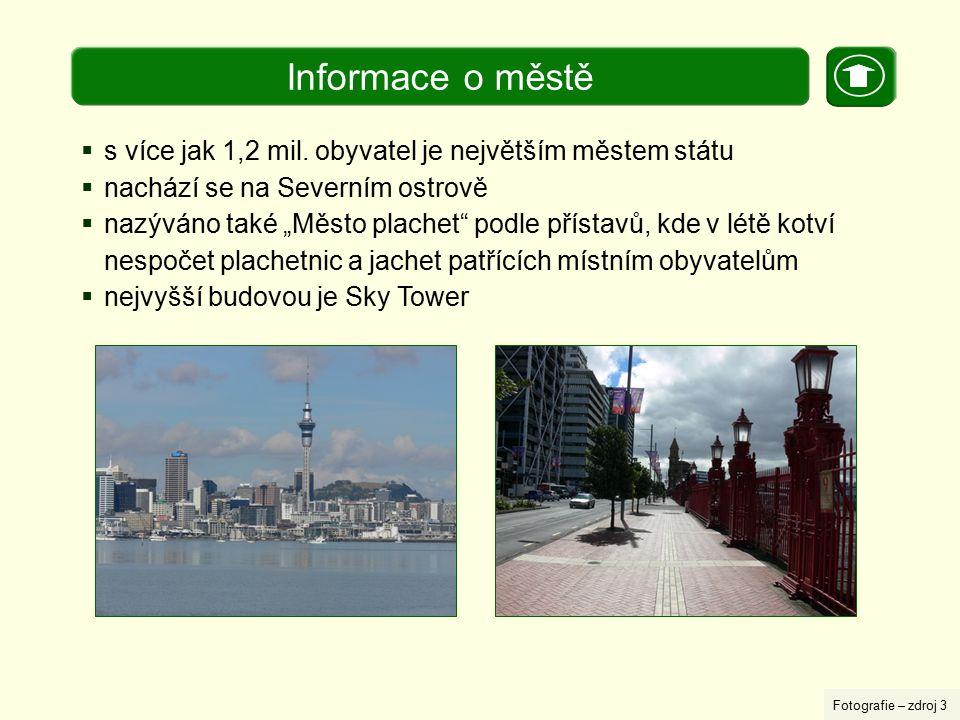 Informace o městě s více jak 1,2 mil. obyvatel je největším městem státu. nachází se na Severním ostrově