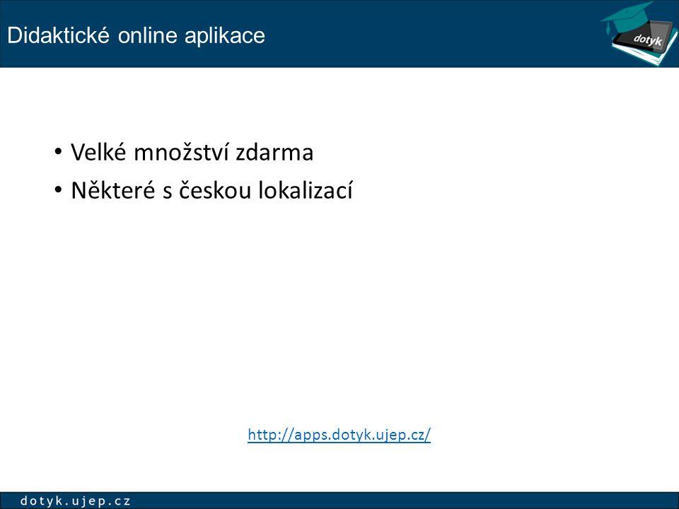 Didaktické online aplikace