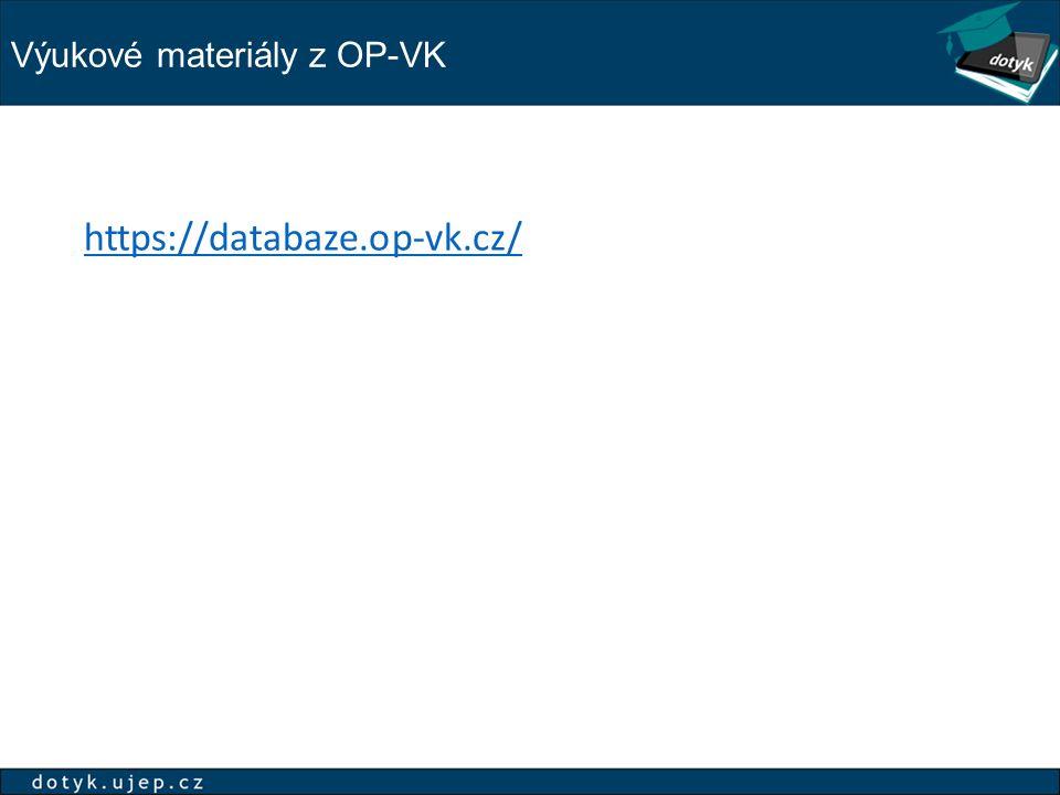 Výukové materiály z OP-VK
