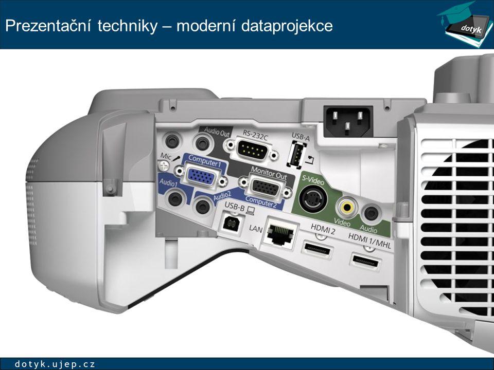 Prezentační techniky – moderní dataprojekce