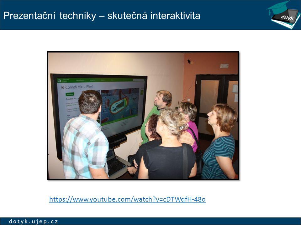 Prezentační techniky – skutečná interaktivita
