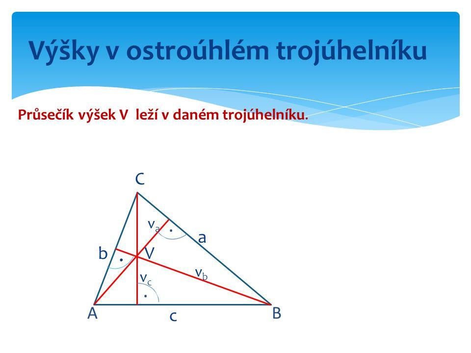 Výšky v ostroúhlém trojúhelníku