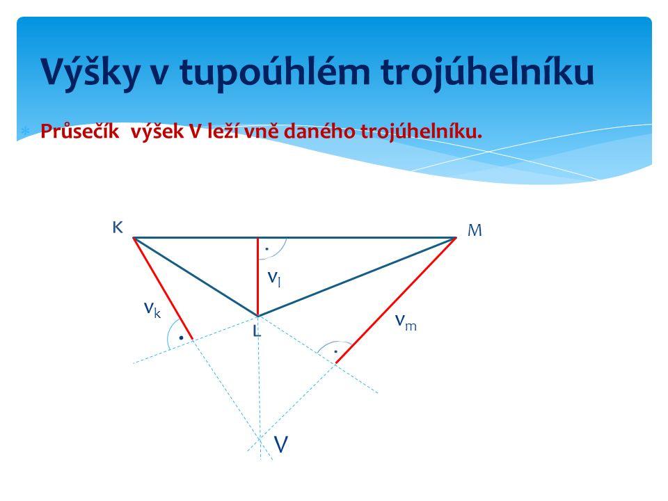 Výšky v tupoúhlém trojúhelníku