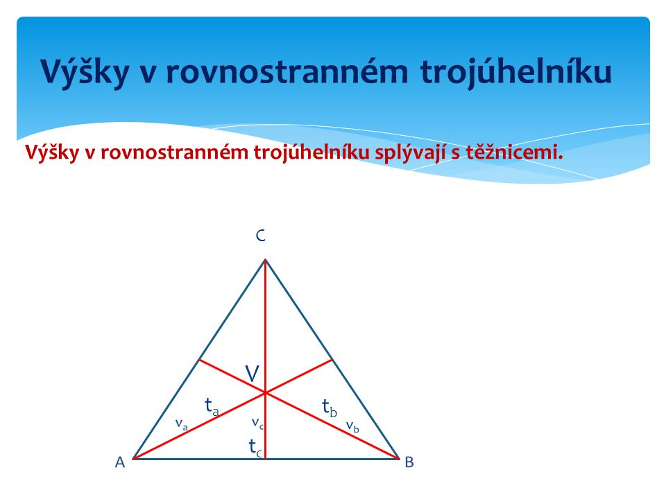 Výšky v rovnostranném trojúhelníku