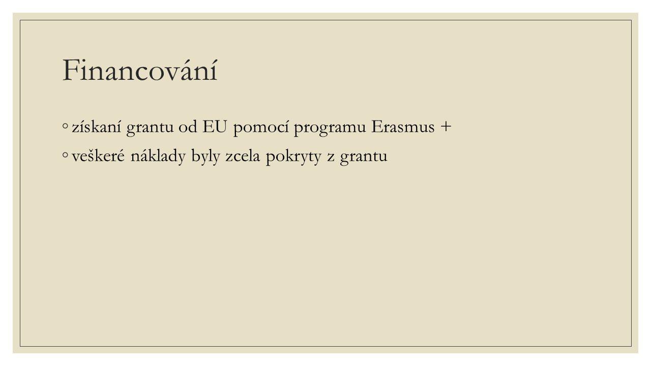Financování získaní grantu od EU pomocí programu Erasmus +