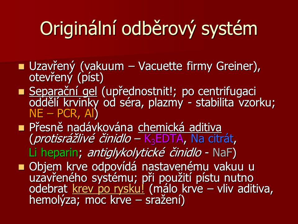 Originální odběrový systém