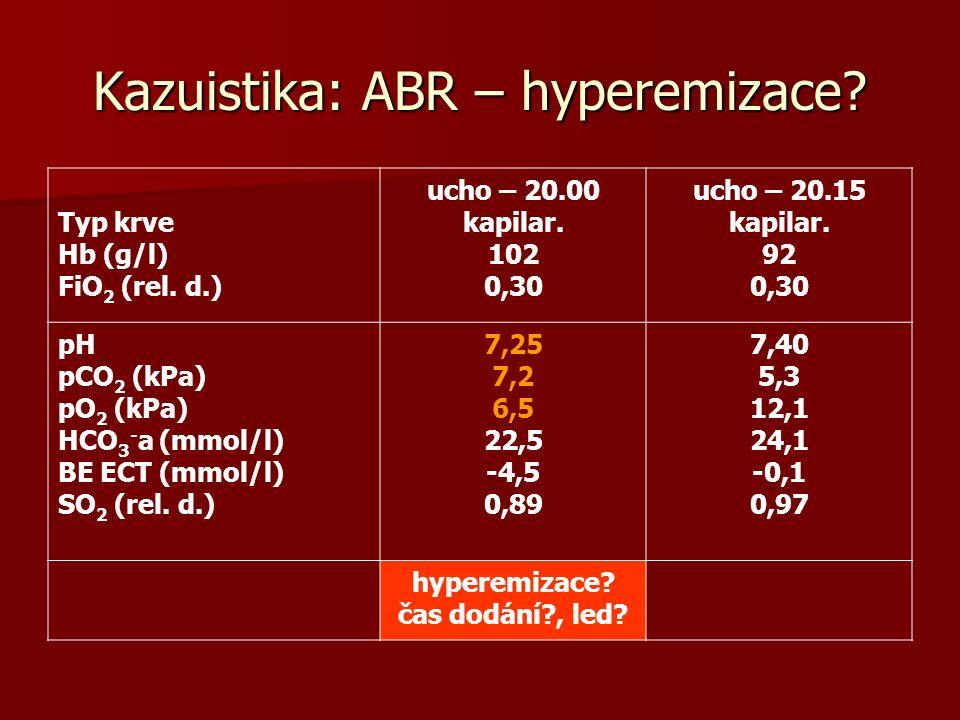 Kazuistika: ABR – hyperemizace