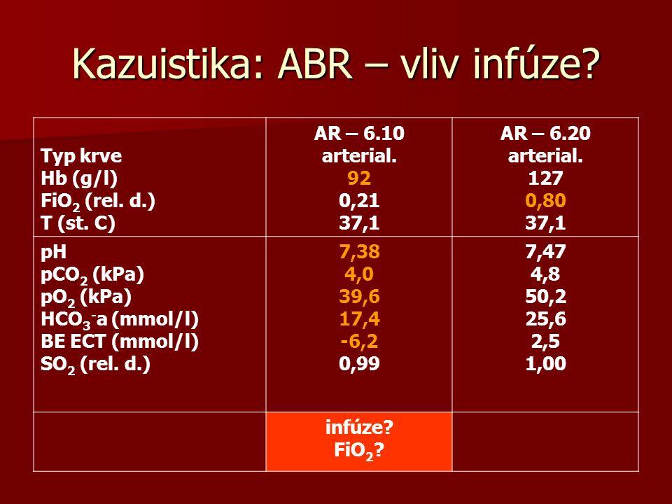 Kazuistika: ABR – vliv infúze