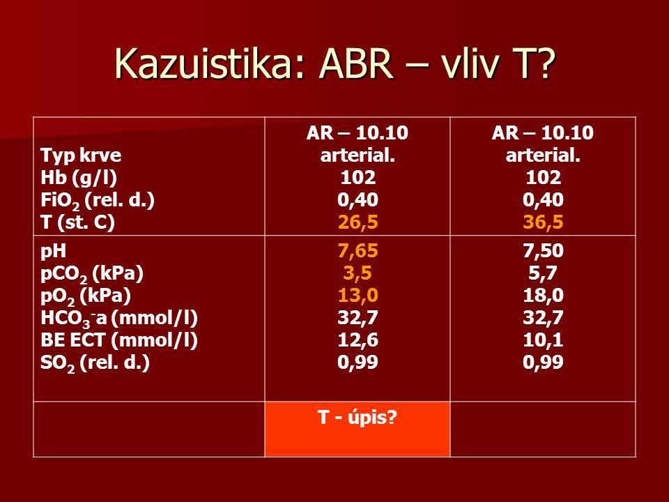 Kazuistika: ABR – vliv T