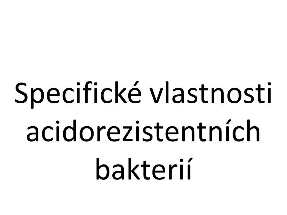 Specifické vlastnosti acidorezistentních bakterií