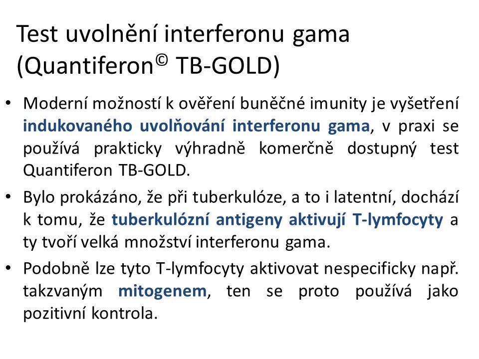 Test uvolnění interferonu gama (Quantiferon© TB-GOLD)