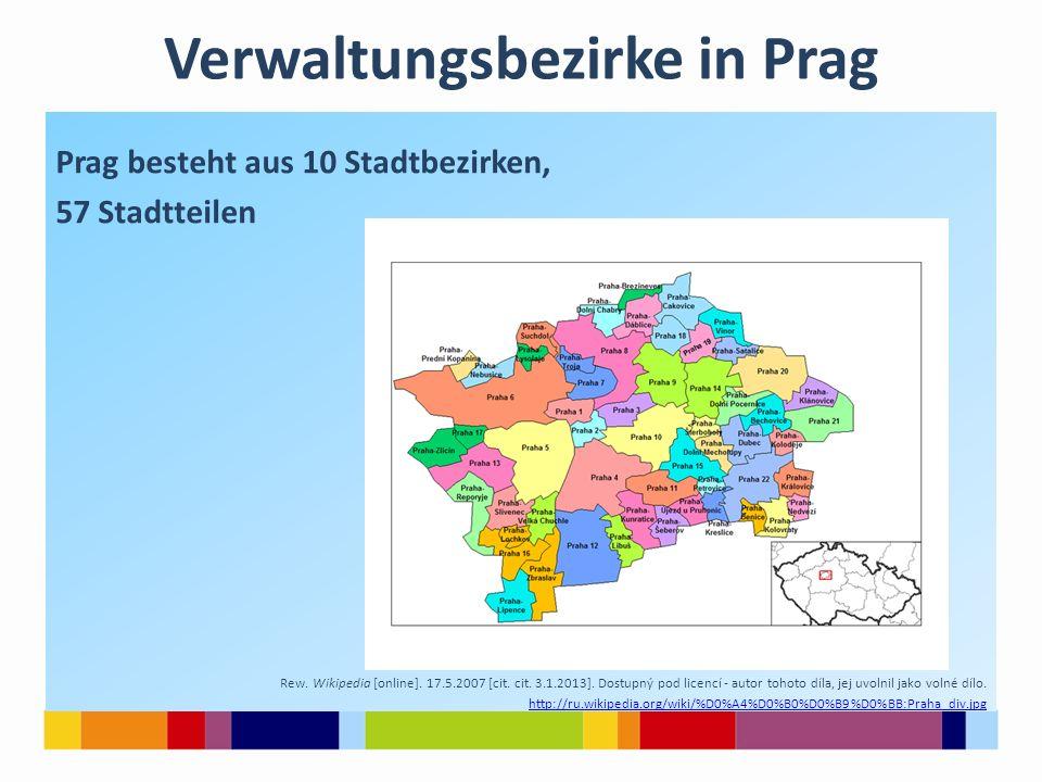 Verwaltungsbezirke in Prag