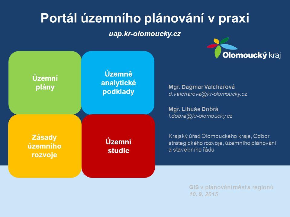 Portál územního plánování v praxi