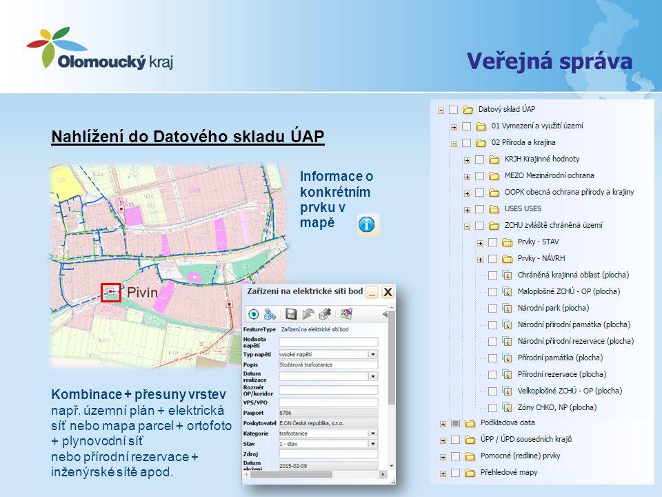 Veřejná správa Nahlížení do Datového skladu ÚAP
