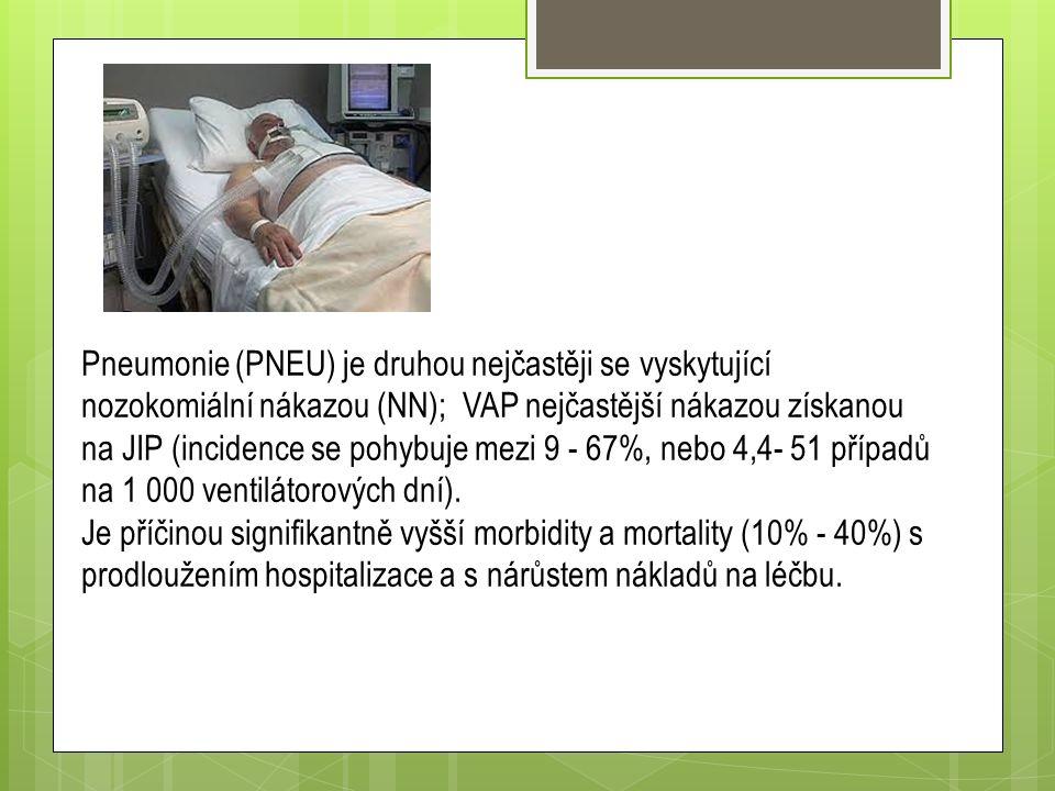 Pneumonie (PNEU) je druhou nejčastěji se vyskytující