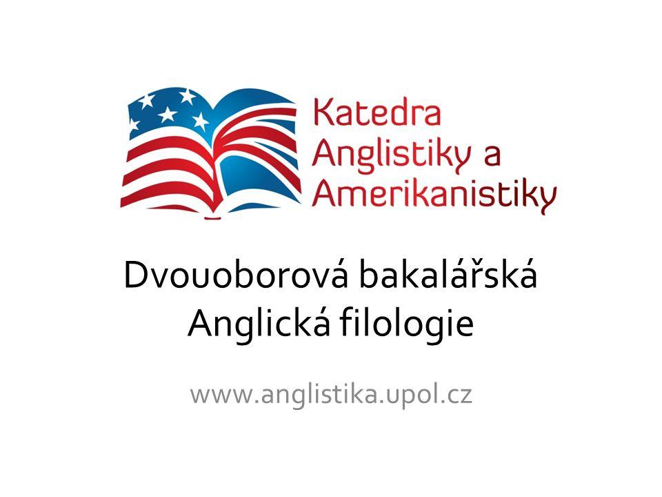 Dvouoborová bakalářská Anglická filologie
