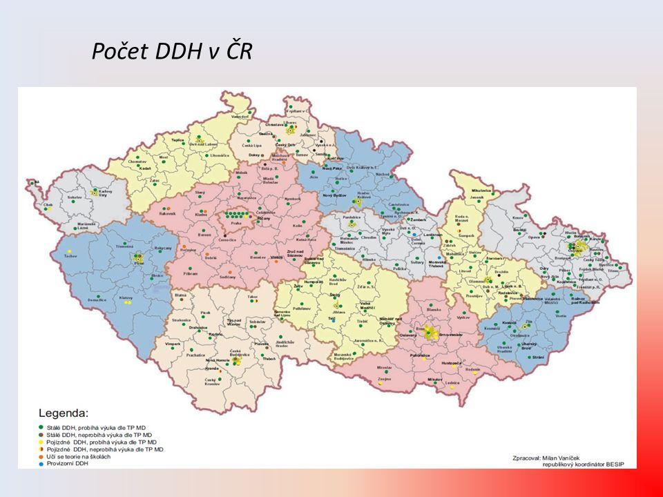 Počet DDH v ČR