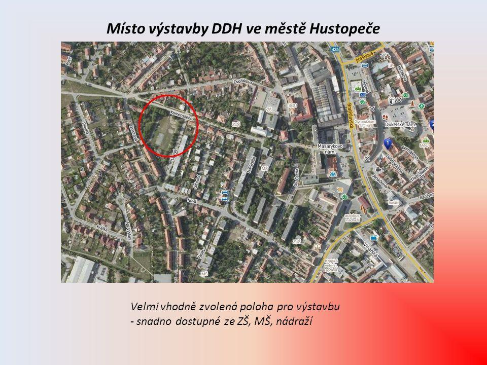 Místo výstavby DDH ve městě Hustopeče