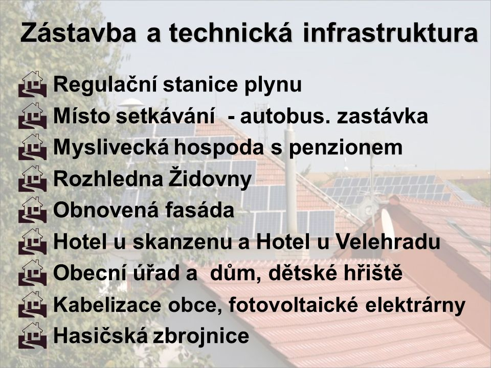 Zástavba a technická infrastruktura