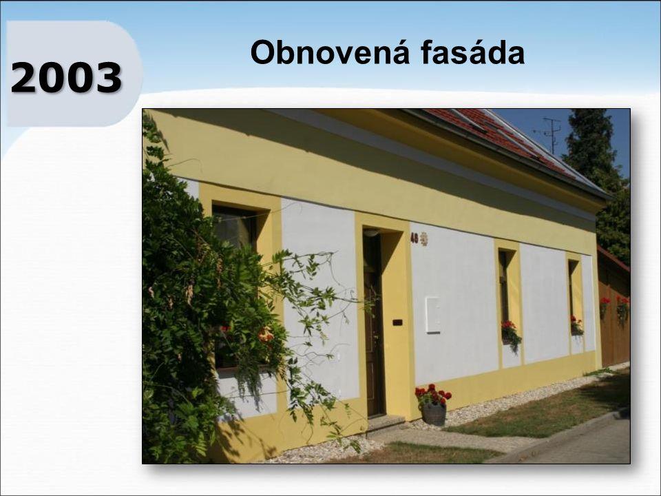 Obnovená fasáda 2003