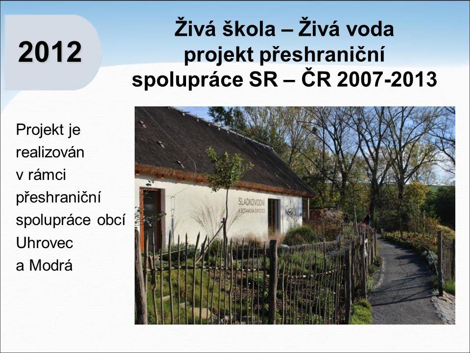Živá škola – Živá voda projekt přeshraniční spolupráce SR – ČR 2007-2013