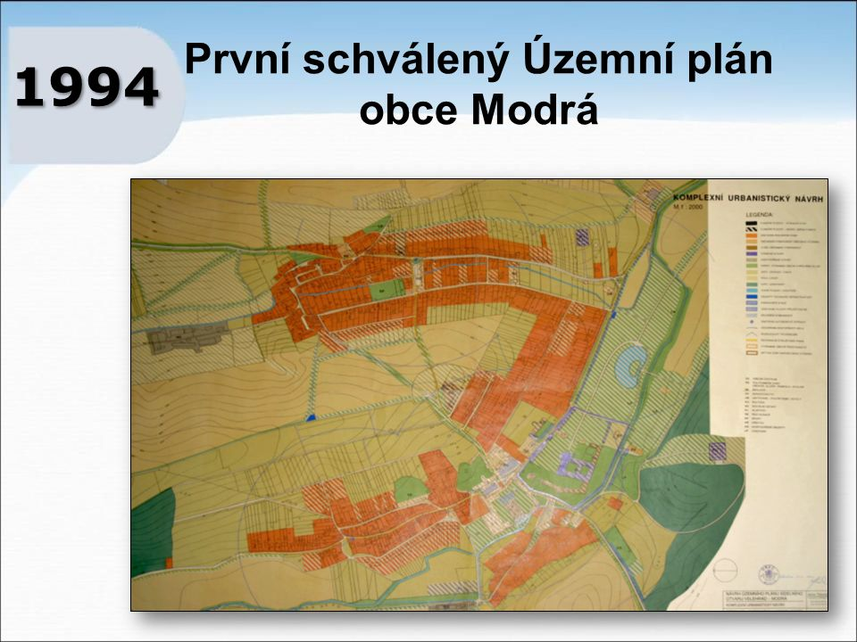 První schválený Územní plán obce Modrá