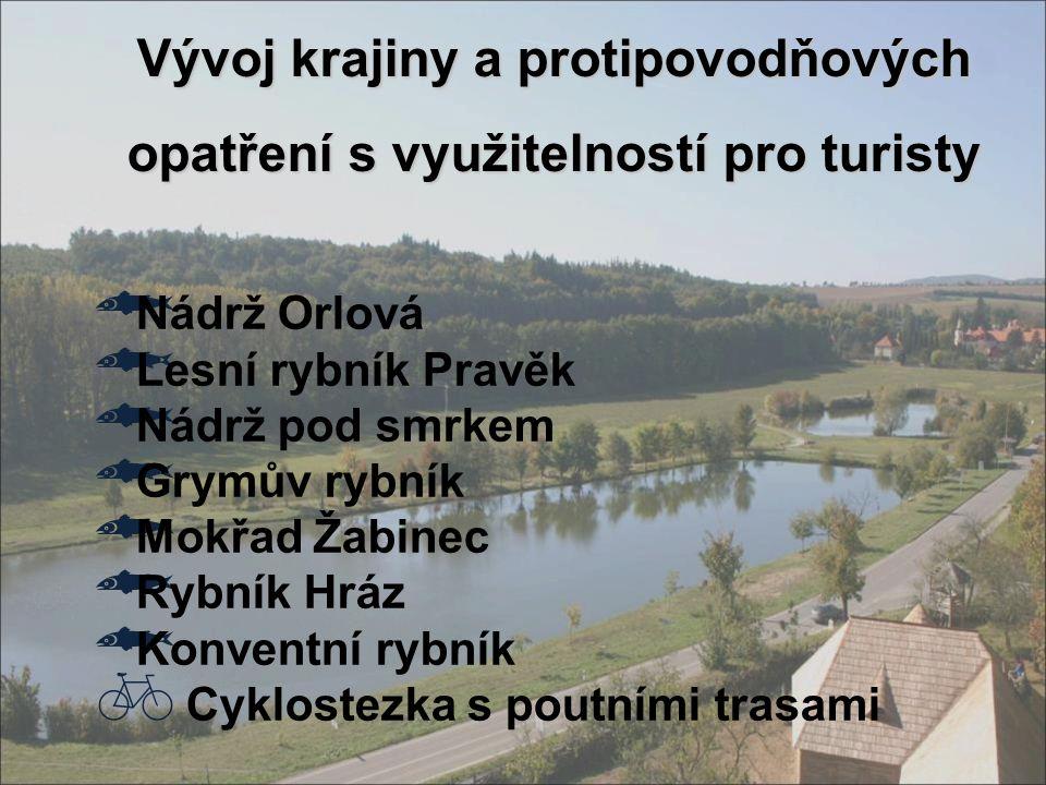 Vývoj krajiny a protipovodňových opatření s využitelností pro turisty