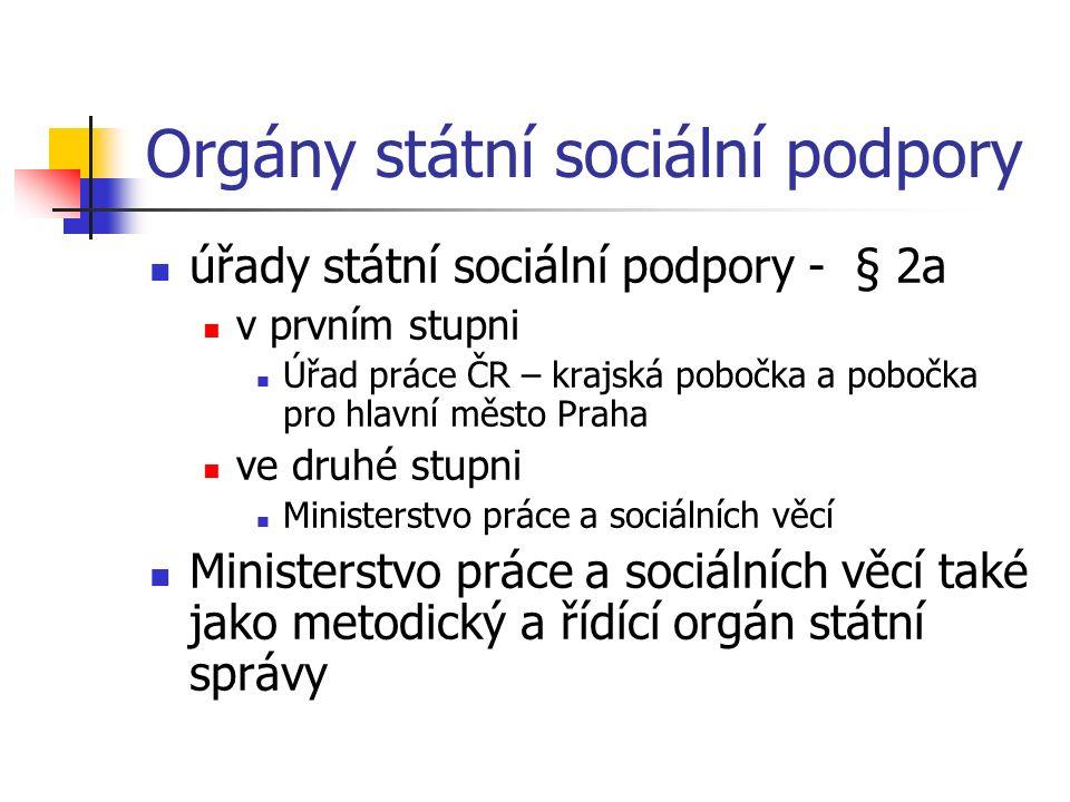 Orgány státní sociální podpory