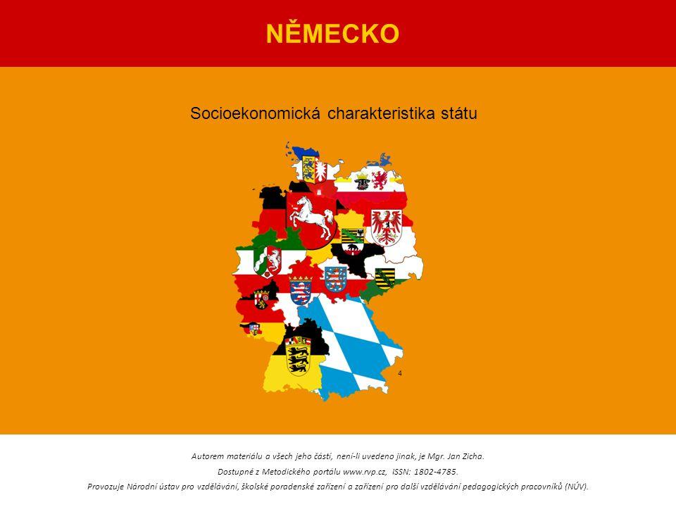 NĚMECKO Socioekonomická charakteristika státu