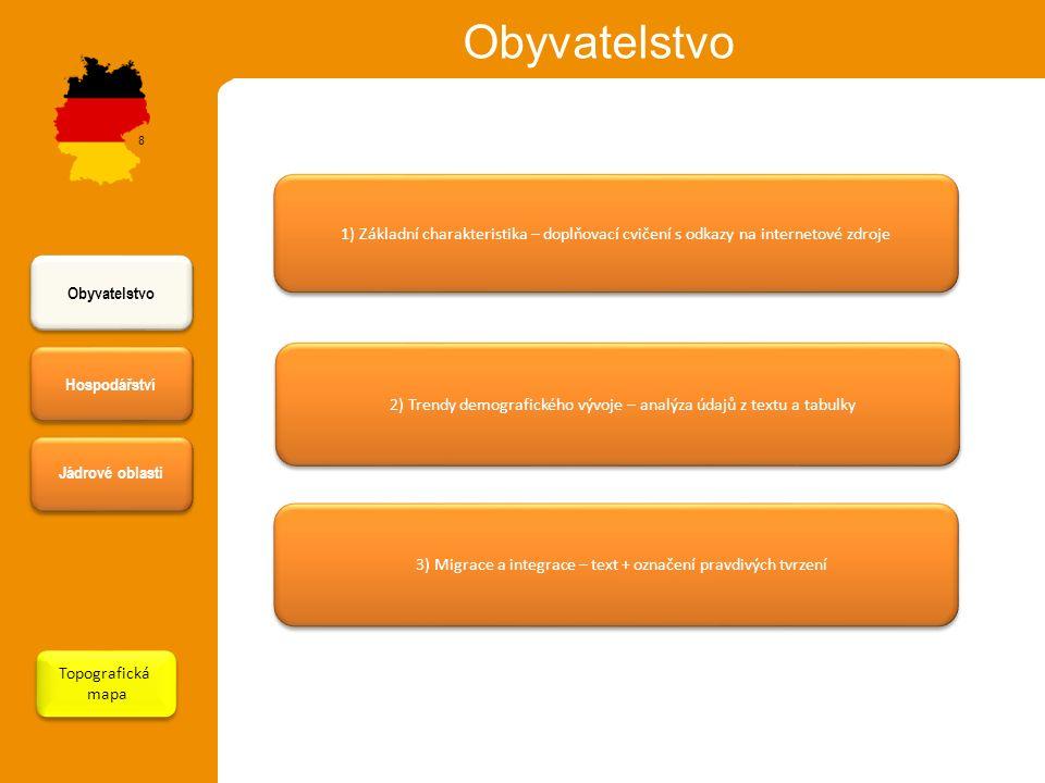 Obyvatelstvo 8. 1) Základní charakteristika – doplňovací cvičení s odkazy na internetové zdroje. Obyvatelstvo.