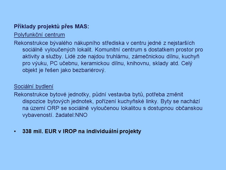 Příklady projektů přes MAS: