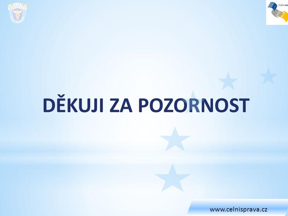 www.celnisprava.cz DĚKUJI ZA POZORNOST