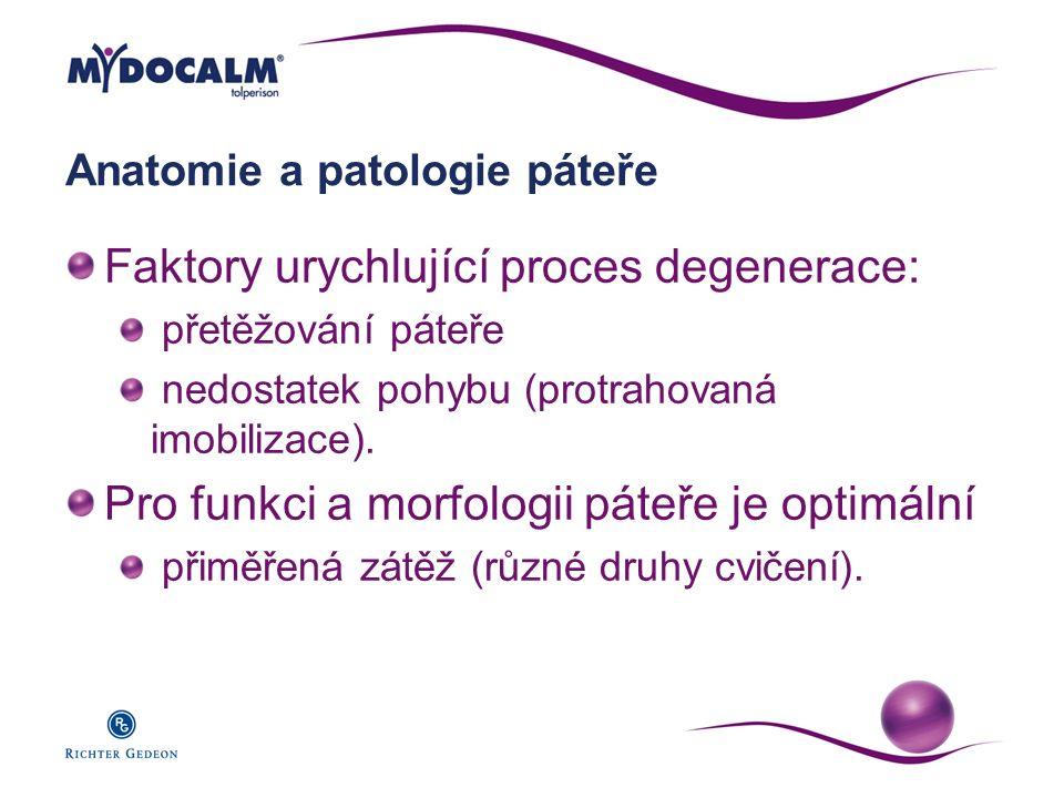 Anatomie a patologie páteře