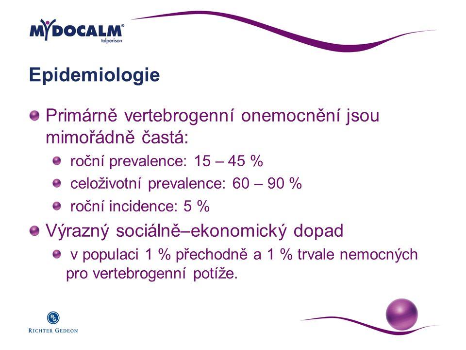 Epidemiologie Primárně vertebrogenní onemocnění jsou mimořádně častá: