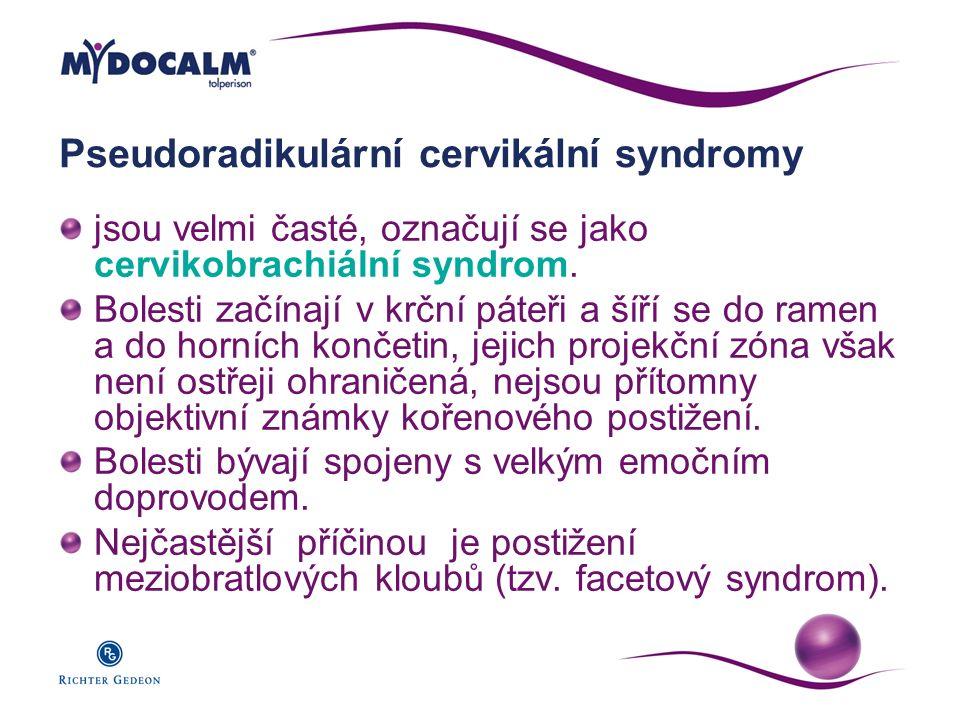 Pseudoradikulární cervikální syndromy