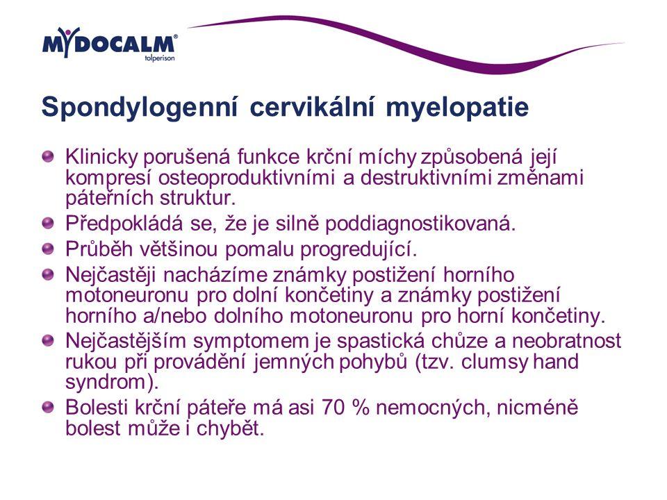 Spondylogenní cervikální myelopatie