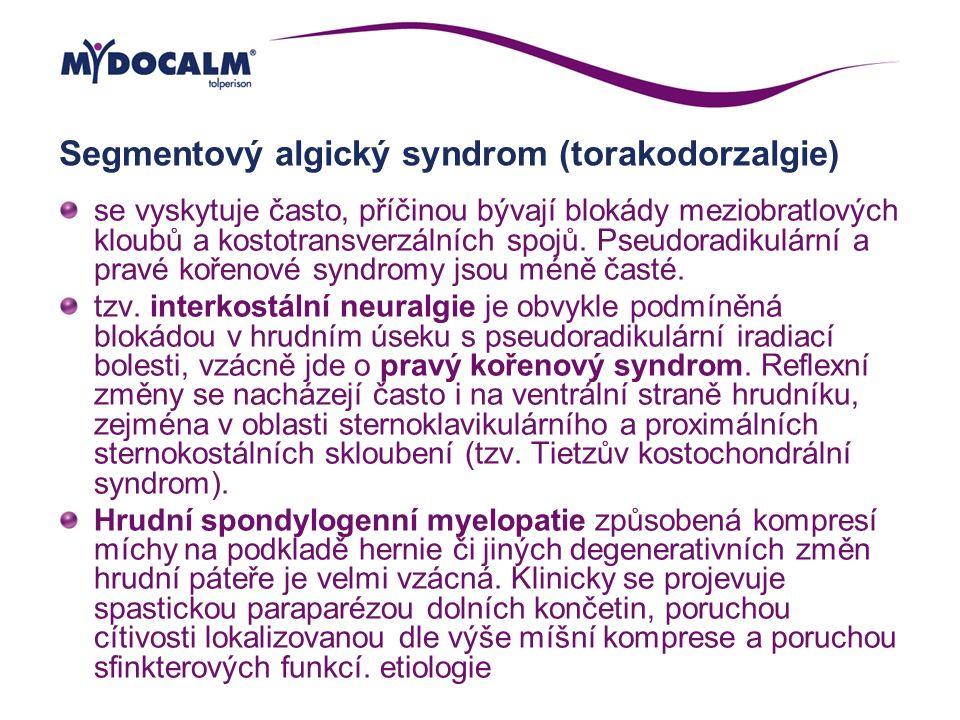 Segmentový algický syndrom (torakodorzalgie)