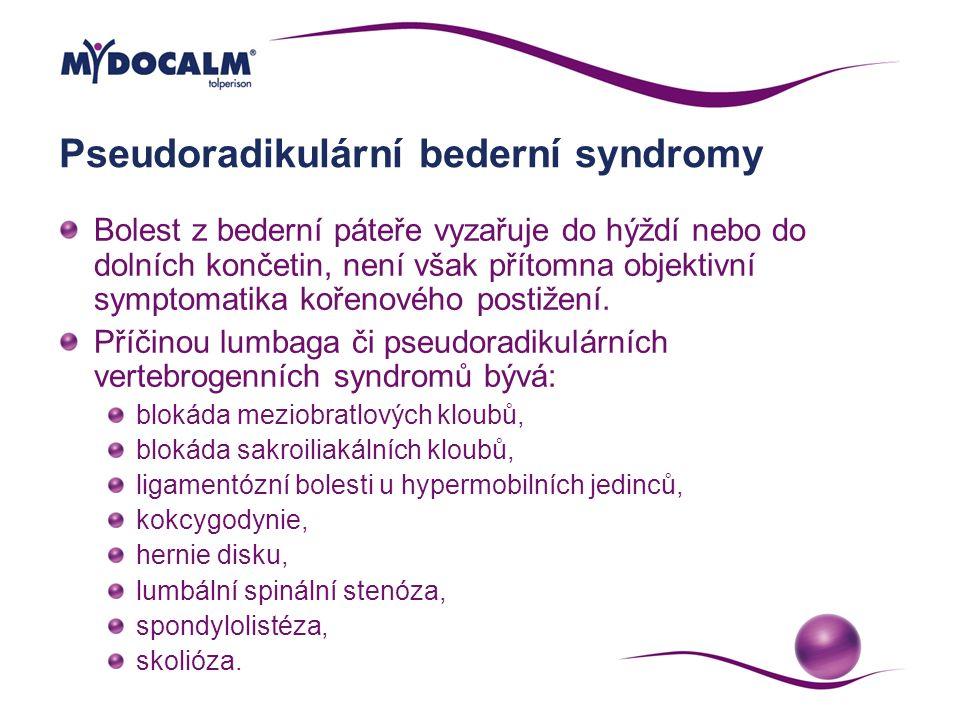 Pseudoradikulární bederní syndromy