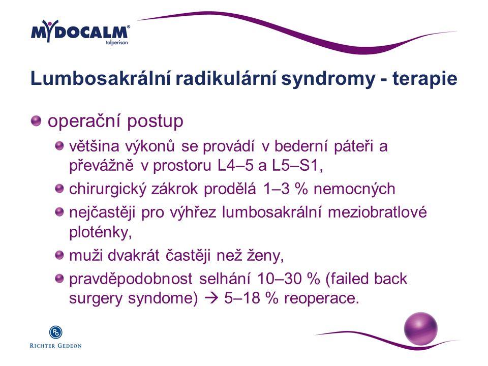 Lumbosakrální radikulární syndromy - terapie