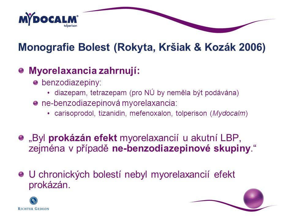 Monografie Bolest (Rokyta, Kršiak & Kozák 2006)