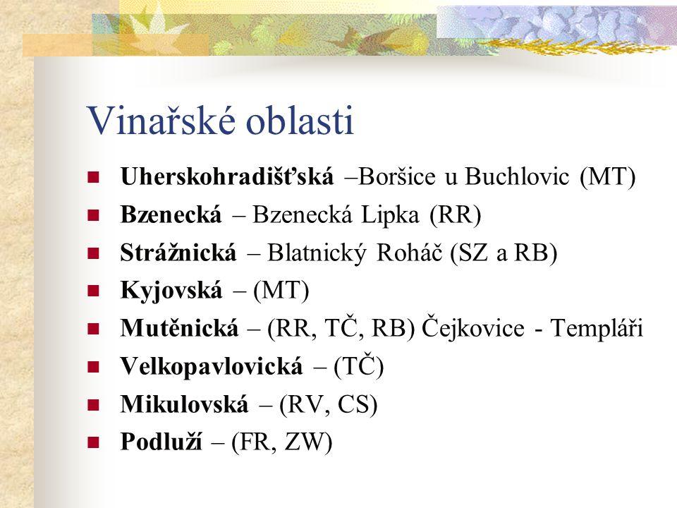 Vinařské oblasti Uherskohradišťská –Boršice u Buchlovic (MT)