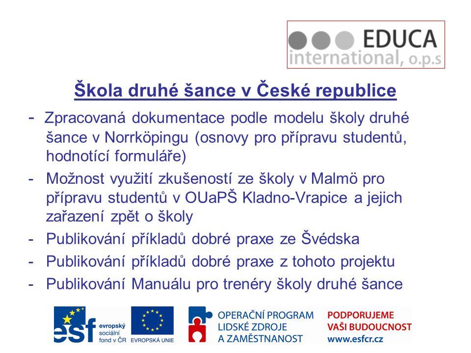 Škola druhé šance v České republice