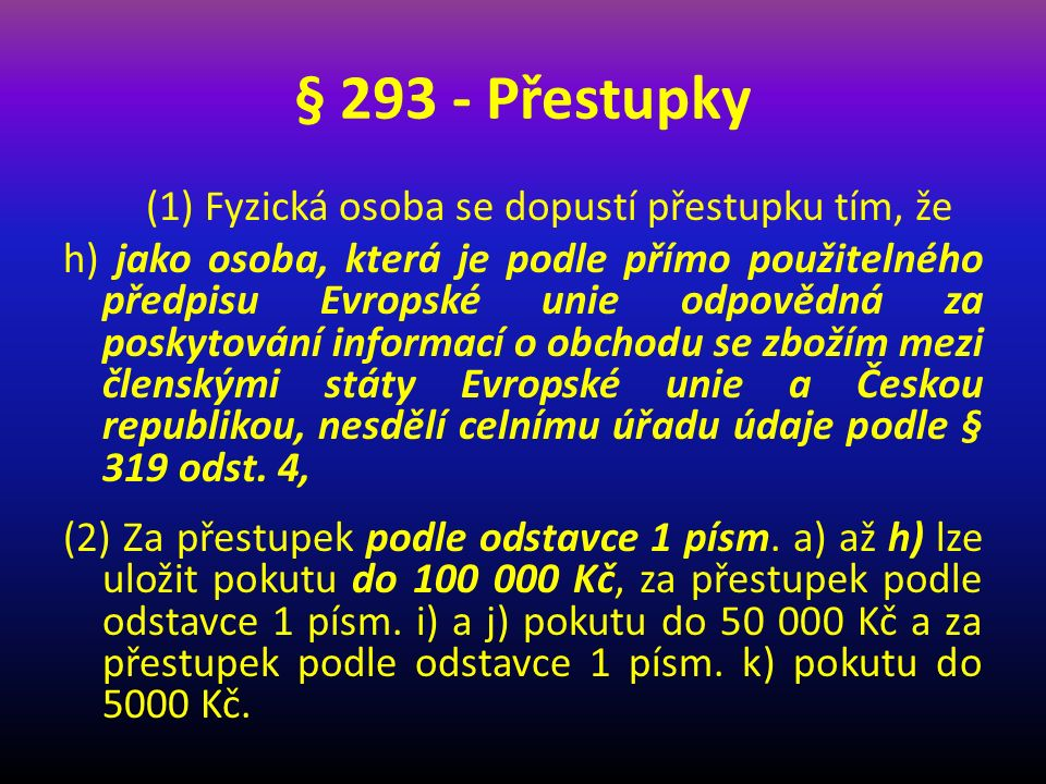 § 293 - Přestupky