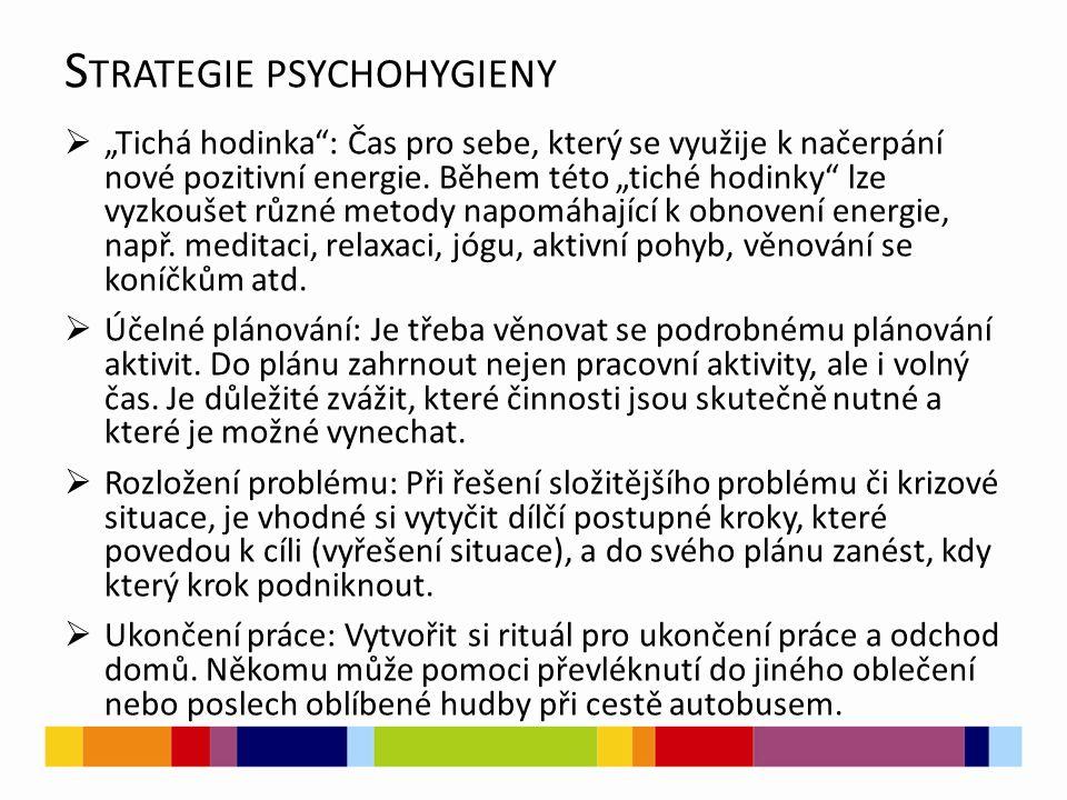 Strategie psychohygieny