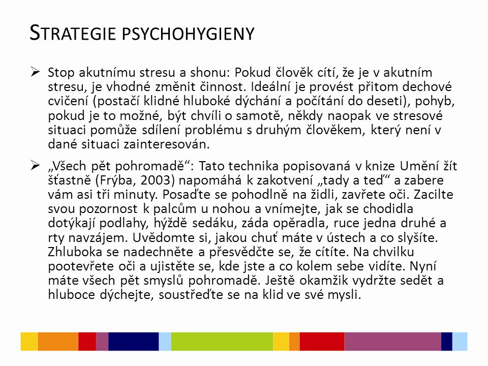 Strategie psychohygieny