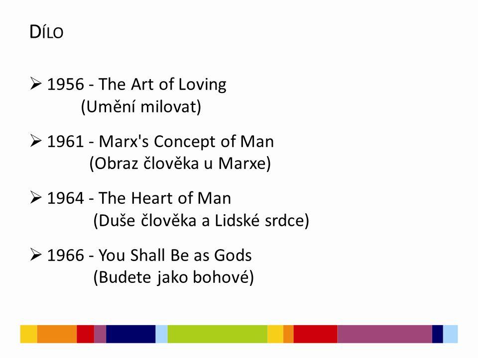 Dílo 1956 - The Art of Loving (Umění milovat)